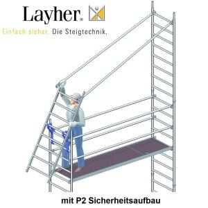 Layher Fahrgerüste mit P2-Sicherheitsaufbau