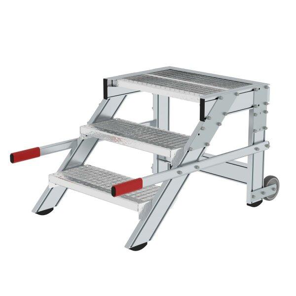 Arbeitspodest fahrbar Stahl-Gitterrost, in 3 Breiten erhältlich