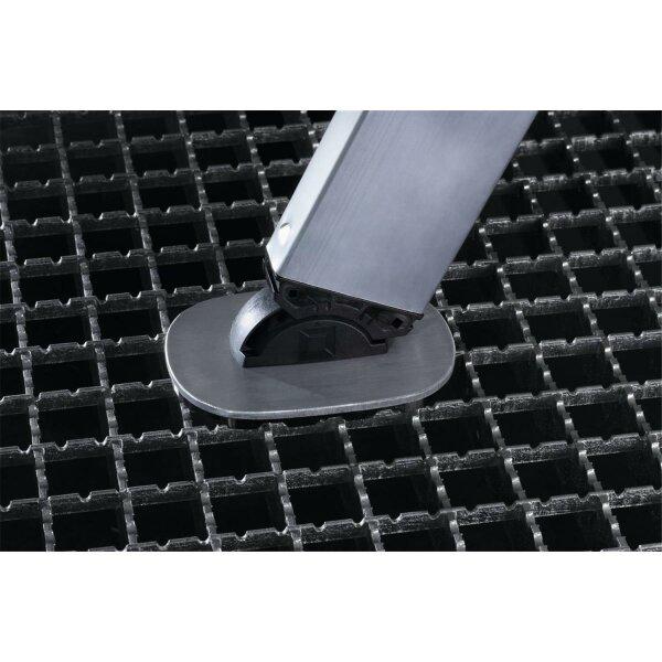 nivello-Fußplatte für Gitterroste 126x89 mm