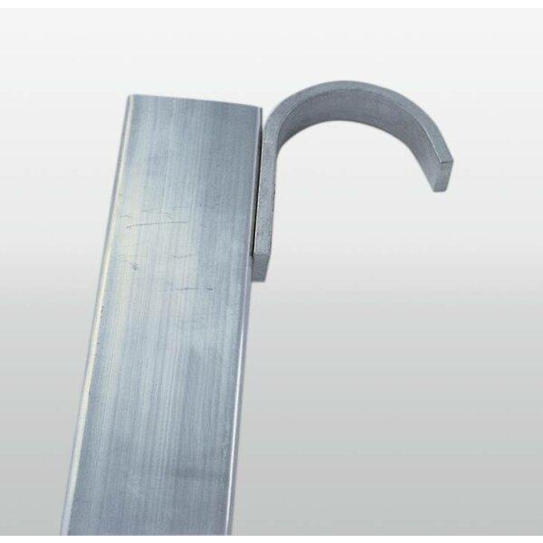 Haken für Stufen- und Sprossenleitern für Führungsschiene bis ø 50 mm