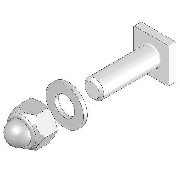 Systemgeländer T-Nut-Schraube M8 x 18 kpl.