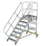Plattformtreppe 45° fahrbar Stufenbreite 800 mm 7...