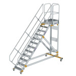 Plattformtreppe 45° fahrbar Stufenbreite 600 mm 12...