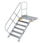 Treppe mit Plattform 45° Stufenbreite 1000 mm 6...