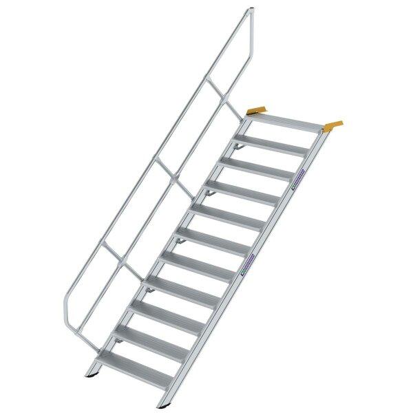 Treppe 45° Stufenbreite 1000 mm 11 Stufen Aluminium geriffelt
