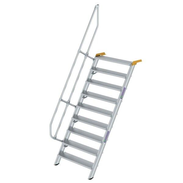 Treppe 60° Stufenbreite 1000 mm 9 Stufen Aluminium geriffelt