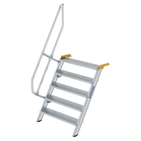 Treppe 60° Stufenbreite 1000 mm 5 Stufen Aluminium geriffelt