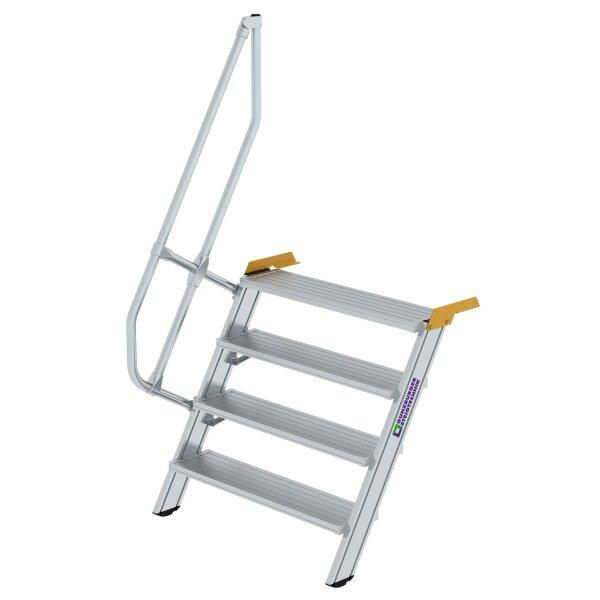 Treppe 60° Stufenbreite 1000 mm 4 Stufen Aluminium geriffelt