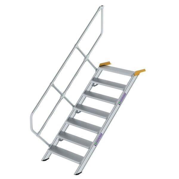 Treppe 45° Stufenbreite 800 mm 7 Stufen Aluminium geriffelt