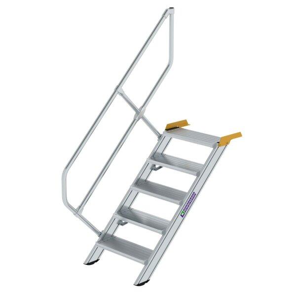Treppe 45° Stufenbreite 600 mm 5 Stufen Aluminium geriffelt