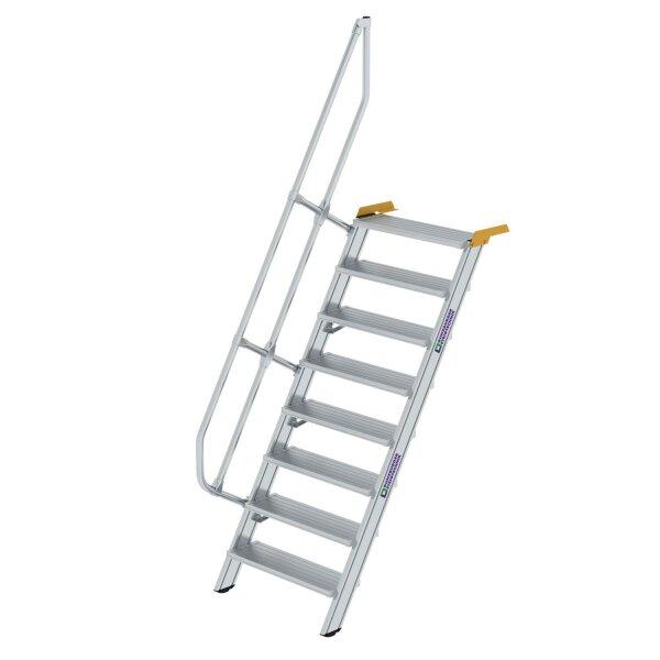 Treppe 60° Stufenbreite 800 mm 8 Stufen Aluminium geriffelt