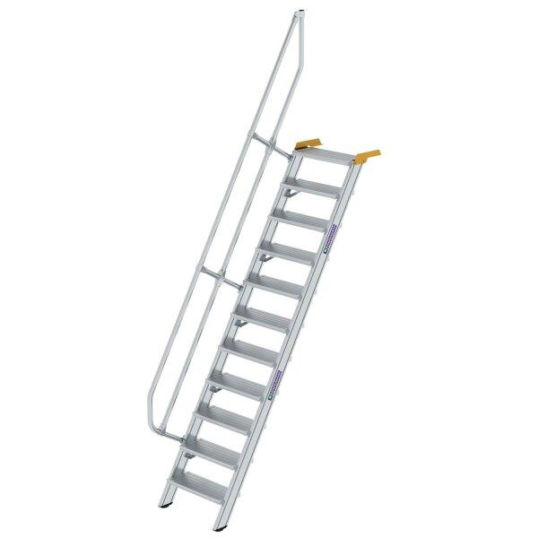 Treppe 60° Stufenbreite 600 mm 11 Stufen Aluminium geriffelt
