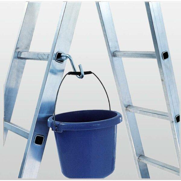 Eimerhaken für gebördelte Stufen-und Sprossenleitern