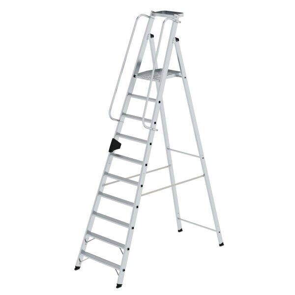 Plattformleiter 10 Stufen mit Ablageschale