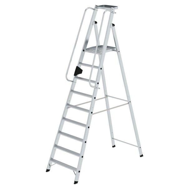 Plattformleiter 9 Stufen mit Ablageschale