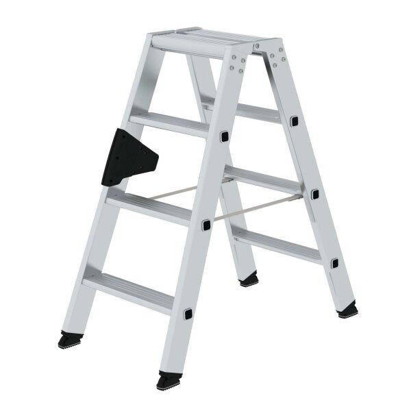 Stufen-Stehleiter beidseitig begehbar  2x4 Stufen