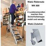 """WAKÜ 3-Stufen-Sicherheitstreppe """"Little Jumbo"""" mit Sicherheitsbügel"""